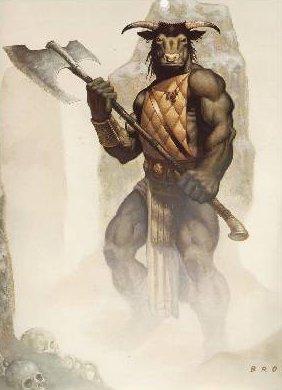 El Minotauro y Teseo