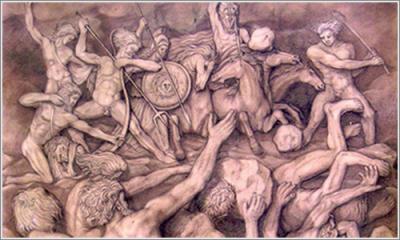 La Gigantomaquia (Intento de derrotar a los Dioses Olímpicos)